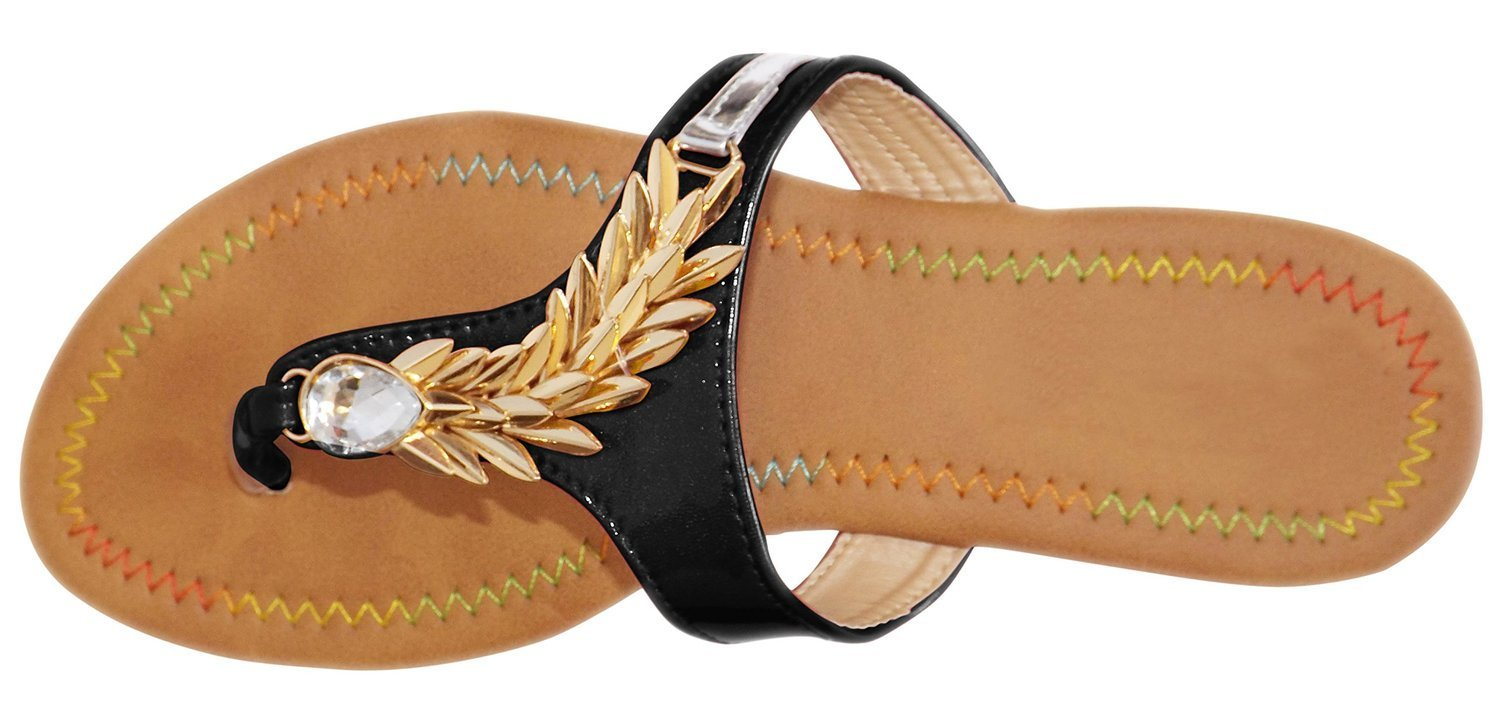 Gold Dragon Spike Embellished Flat Flip Flop