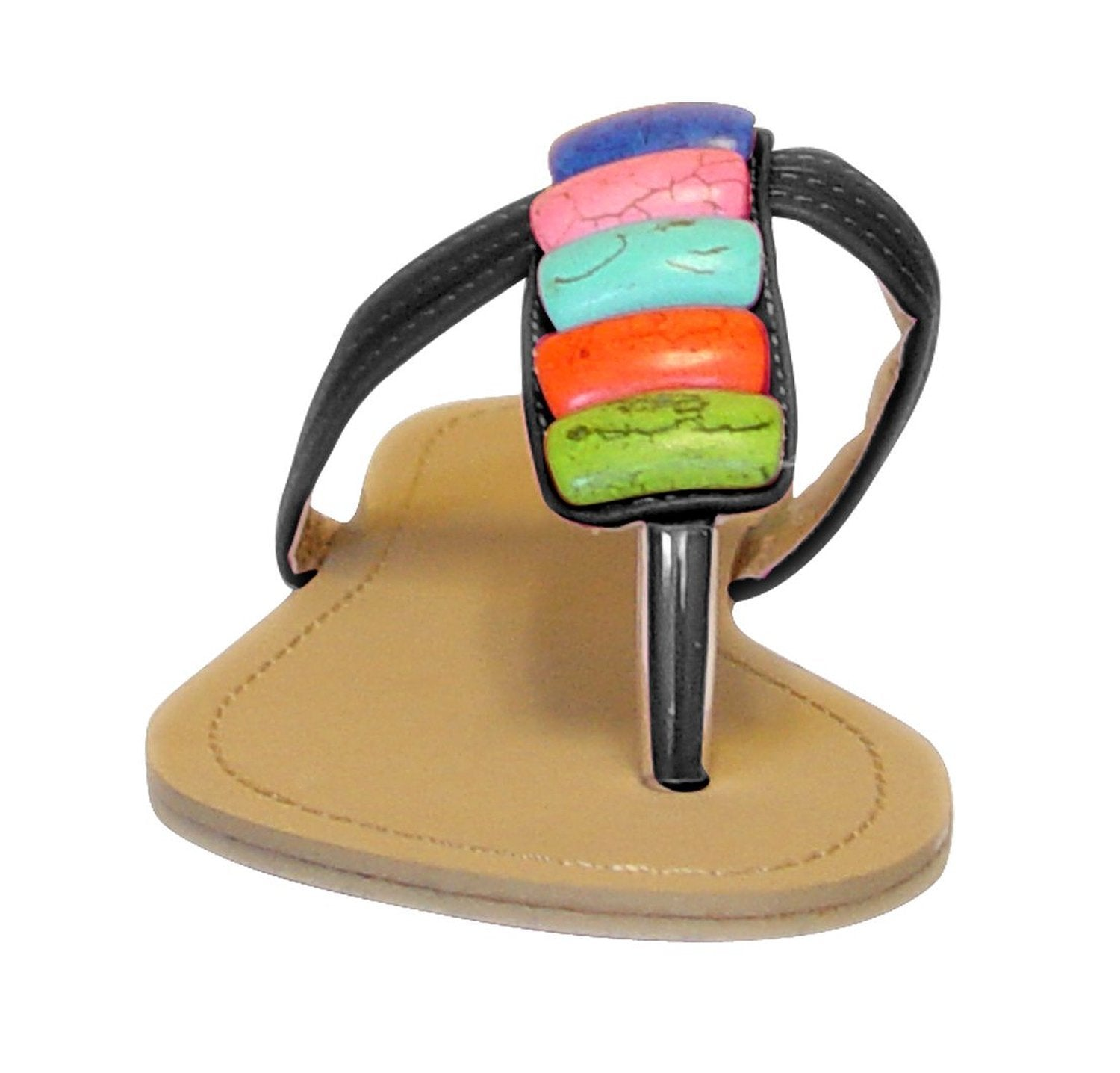 Colorful Clay River Rocks Womens Sandals Flip