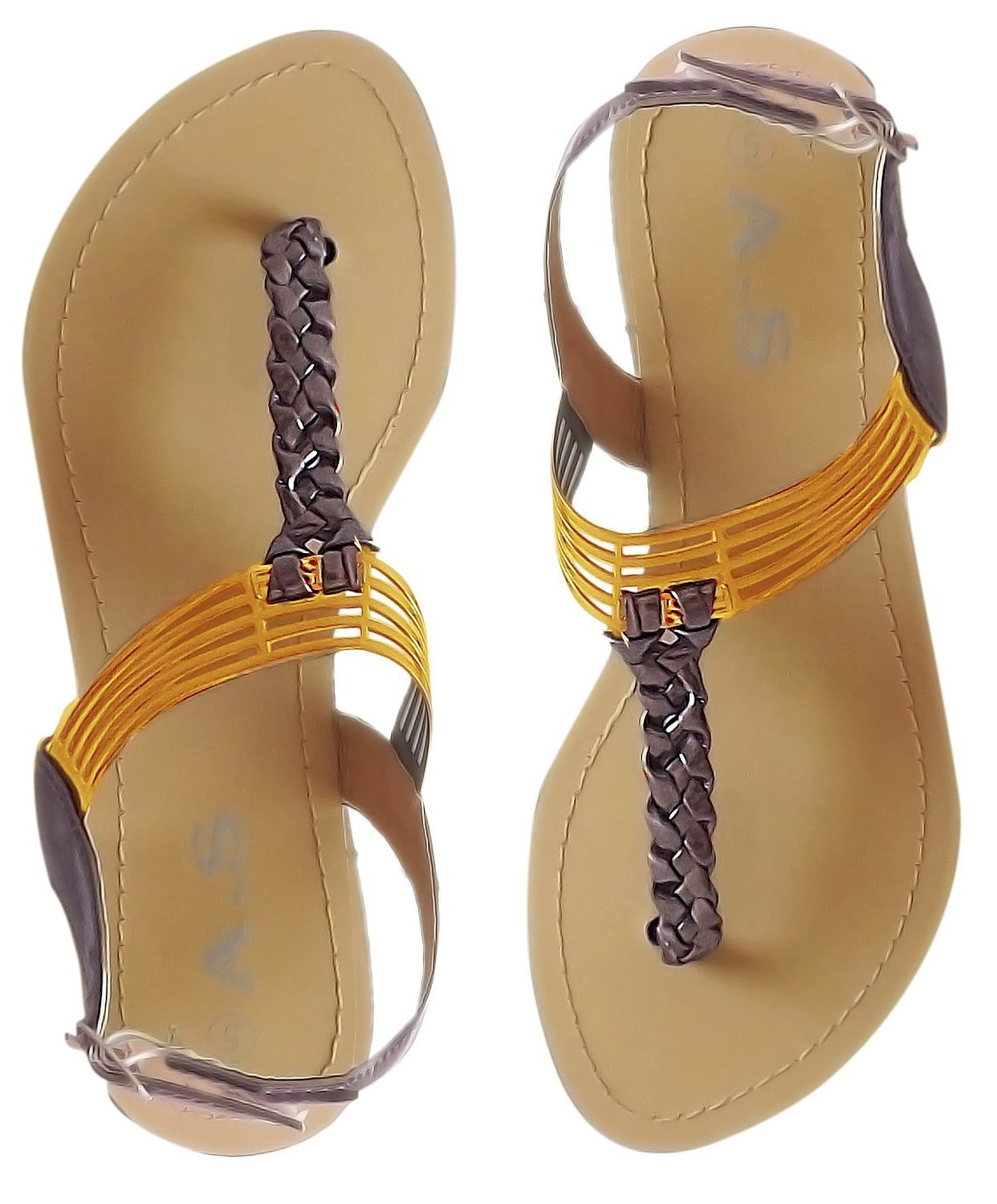 Roman Gladiator Sandals Back Buckle Braided Thong