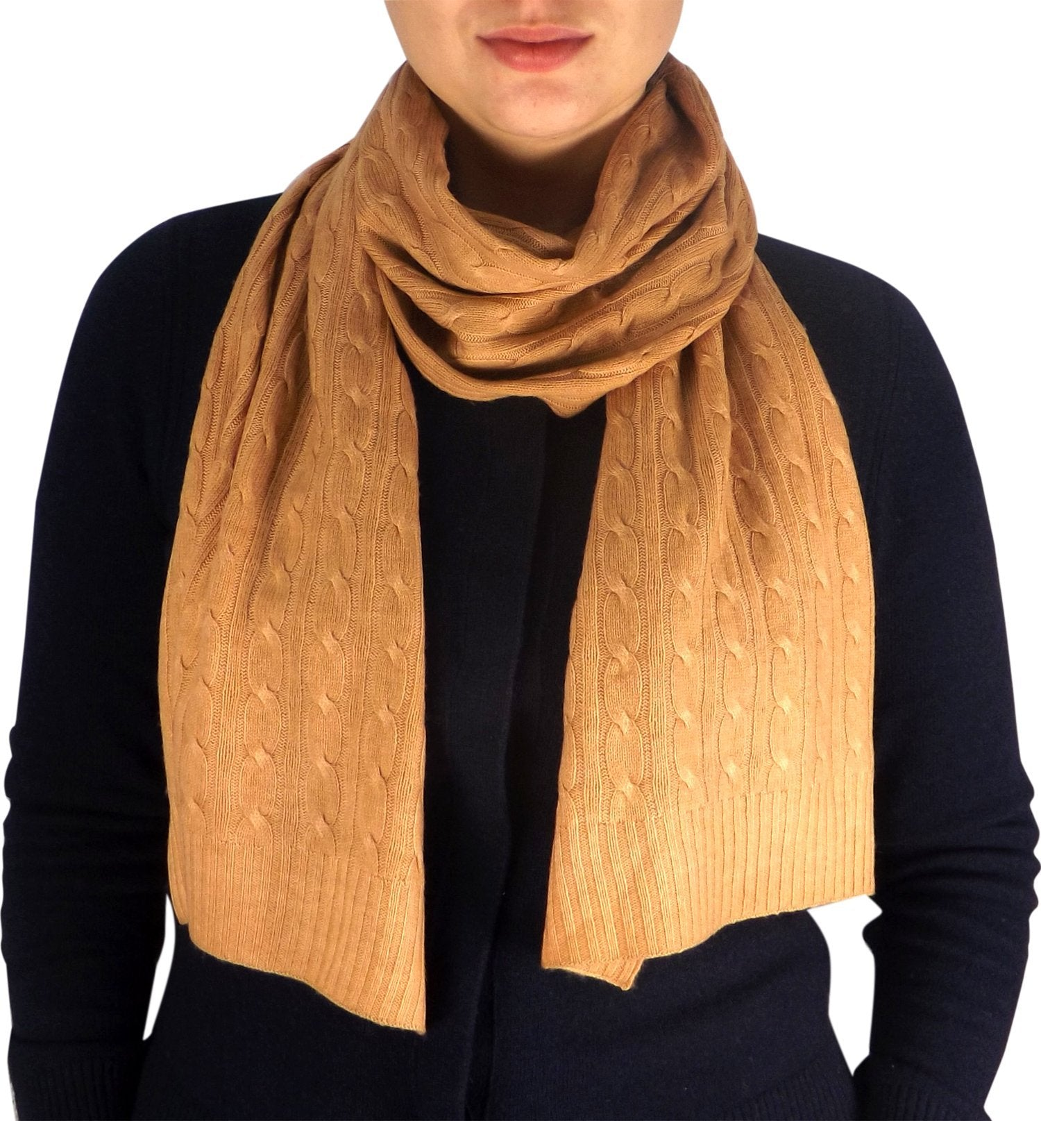 Wool Cashmere Lightweight Cable Knit Exclusive All