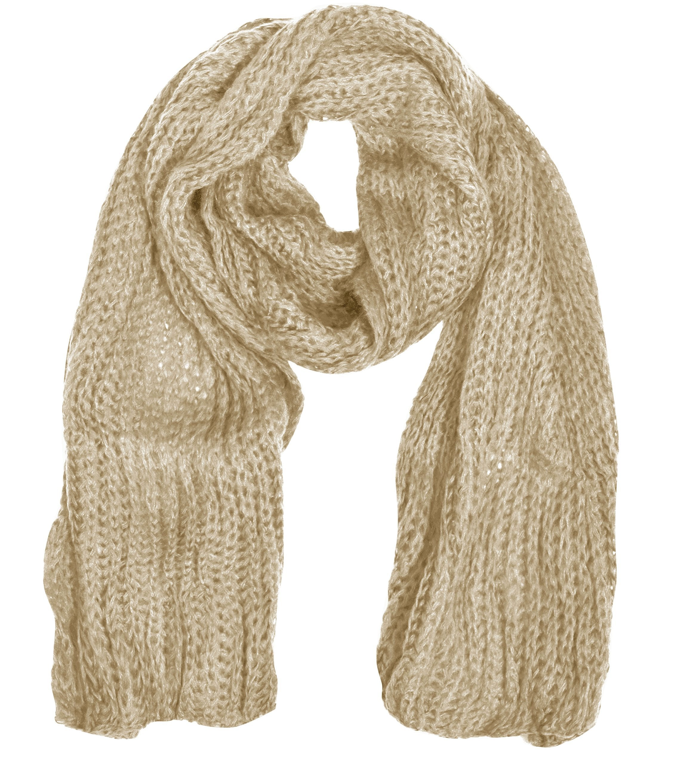 Warm and Cozy Unisex Chunky Hand Knit Long Scarf