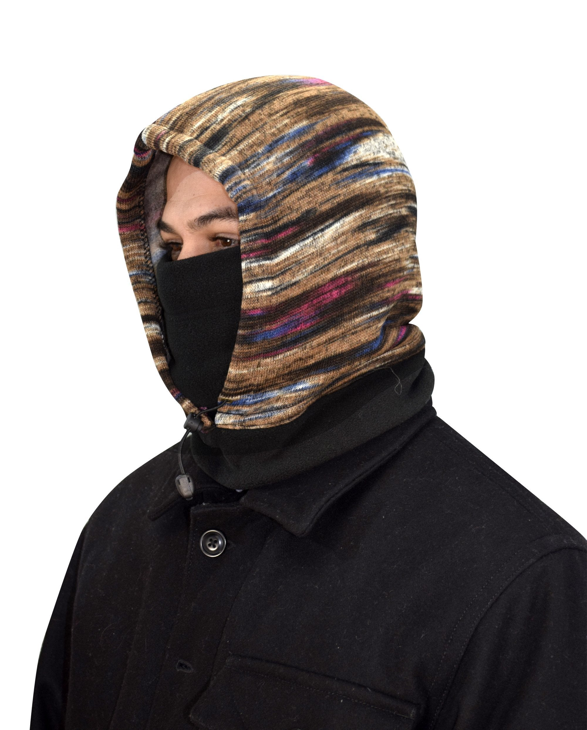 Thick Knit One Hole Facemask Balaclava