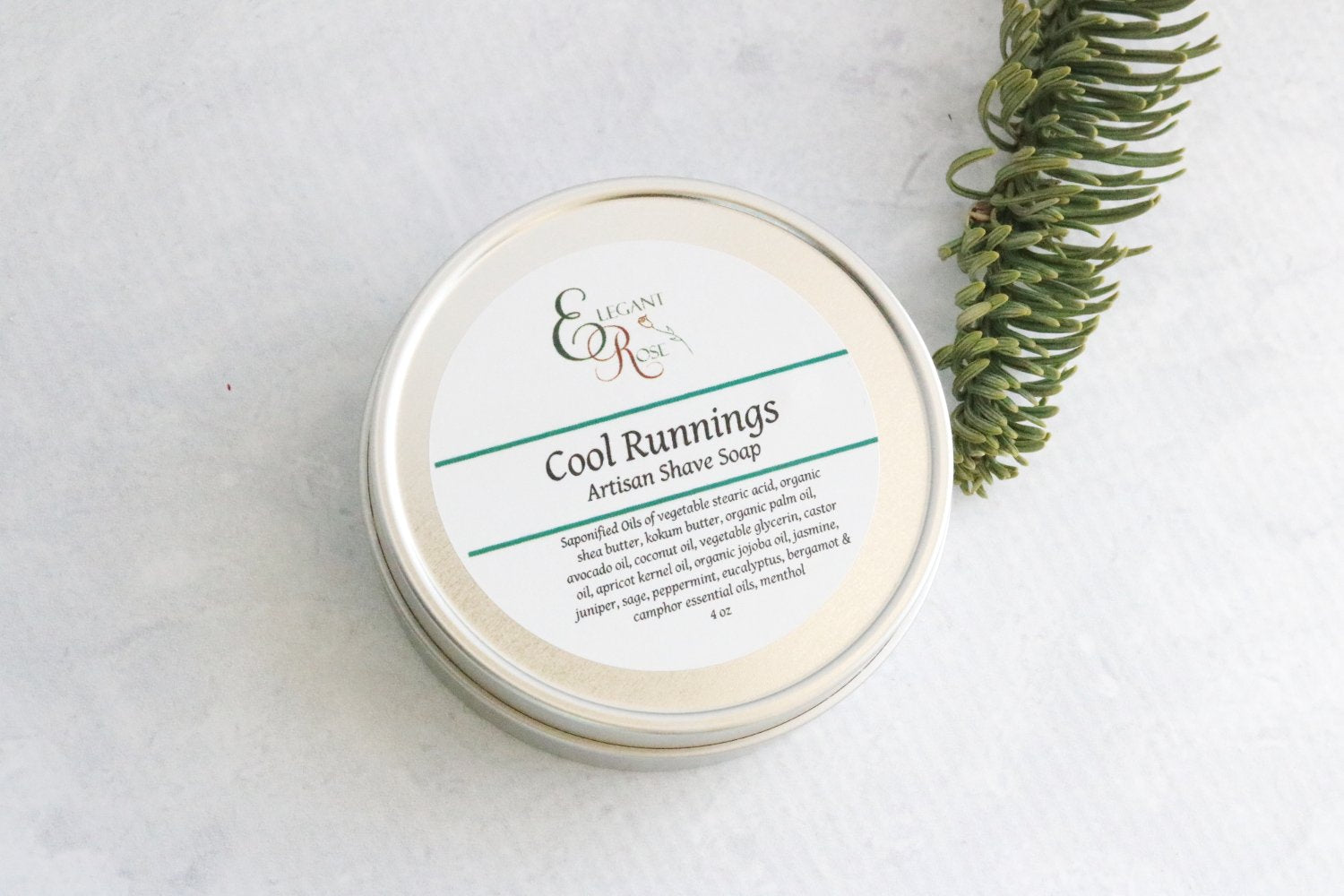 Cool Runnings Shave Soap, Mens Shave Soap, Wet