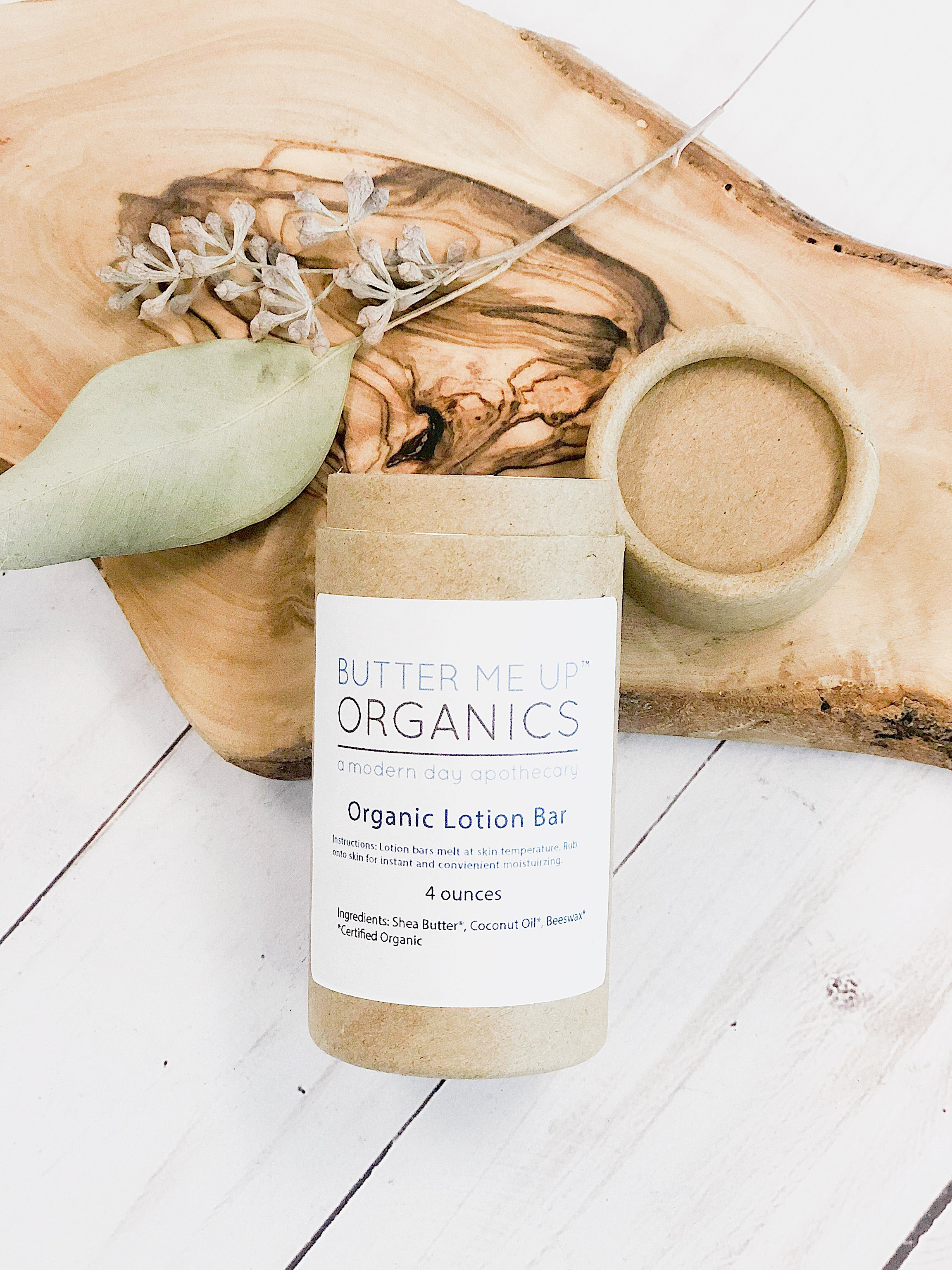 Organic Lotion Bar Shea Butter and Coconut Oil