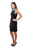 Joseph Ribkoff Black Jewel Accent Halter Cocktail Dress 171950 NEW**