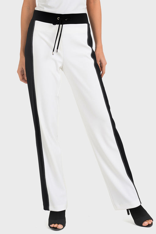 Joseph Ribkoff Vanilla/Black High-Contrast Slip-On Ankle Pants 193108 NEW