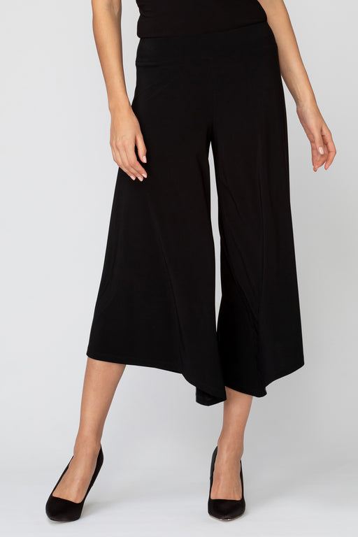 Joseph Ribkoff Style 193109 Black Flared Wide Leg Cropped Pants