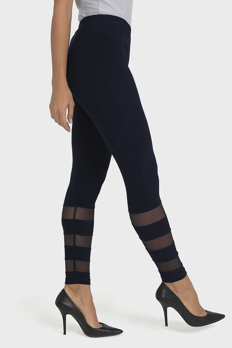 Joseph Ribkoff Midnight Blue Sheer Banded Legging 193295 NEW