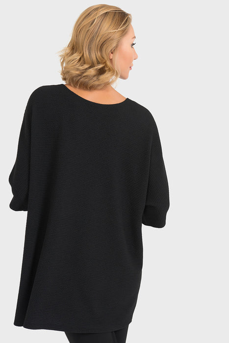 Joseph Ribkoff Black Stick And Grommet Accent Tunic Top 193476 NEW