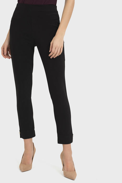 Joseph Ribkoff Style 194056 Black Pearl Accent Slip-On Cropped Pants
