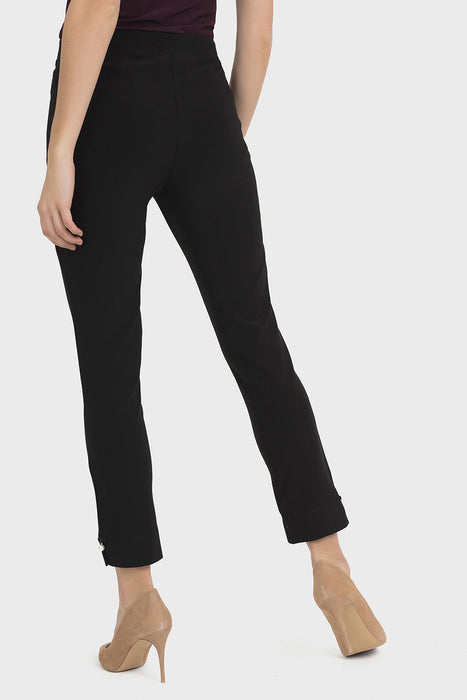 Joseph Ribkoff Black Pearl Accent Slip-On Cropped Pants 194056 NEW
