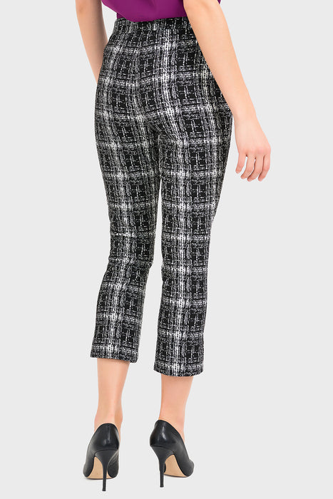 Joseph Ribkoff Black/White Tweed-Look Capri Pants 194807 NEW***