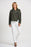Joseph Ribkoff Avocado Oversized Collar Open Front Asymmetric Jacket 201069 NEW