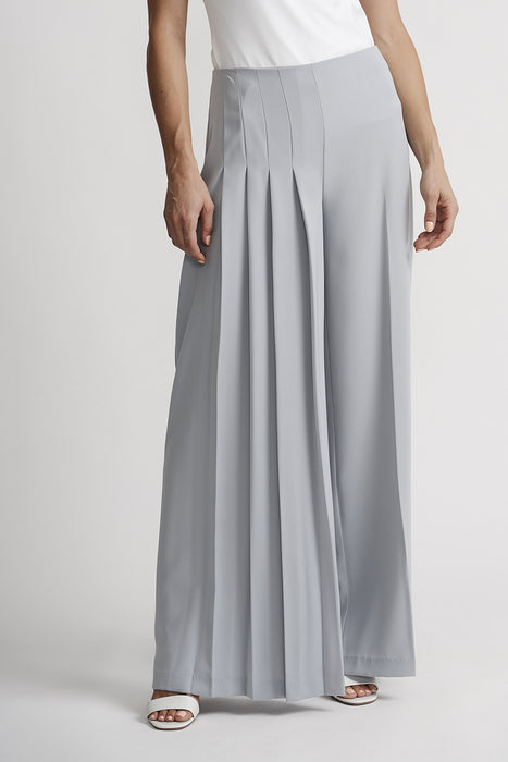 Joseph Ribkoff Style 201117 Grey Frost Pleated Wide Leg Pants