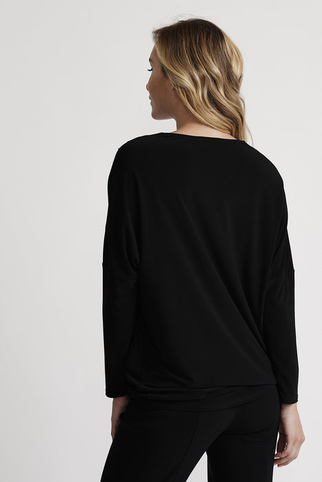 Joseph Ribkoff Black Studded Zip Front Long Sleeve Top 201145 NEW