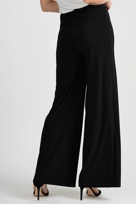 Joseph Ribkoff Black Belt Buckle Accent Slip-On Palazzo Pants 201482 NEW