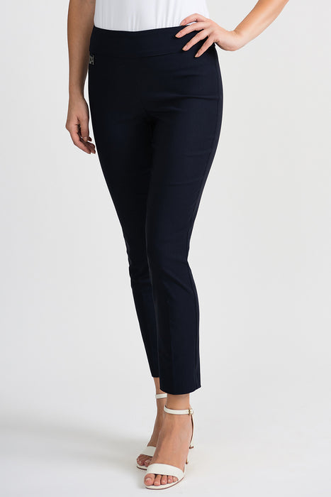 Joseph Ribkoff Style 201483 Midnight Blue Straight Leg Slip-On Cropped Pants