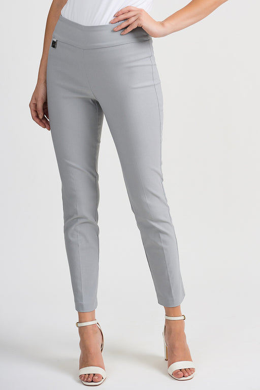 Joseph Ribkoff Style 201483 Grey Frost Straight Leg Slip-On Cropped Pants