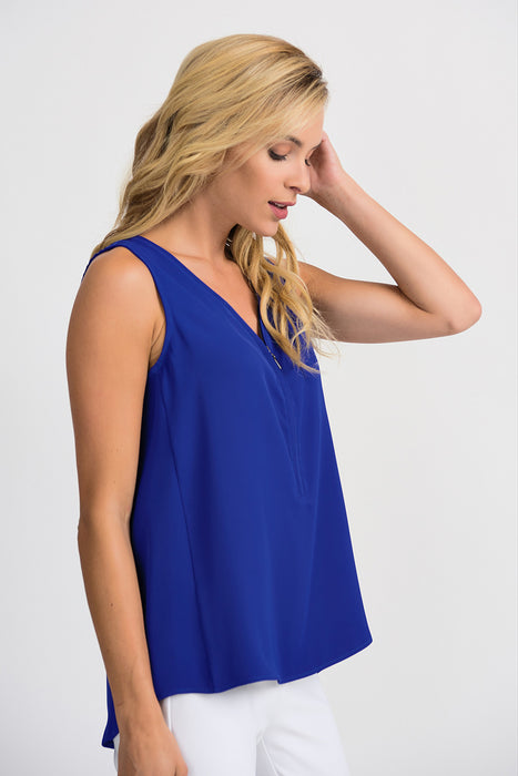 Joseph Ribkoff V-Neck Sleeveless High-Low Hem Camisole 201507 NEW