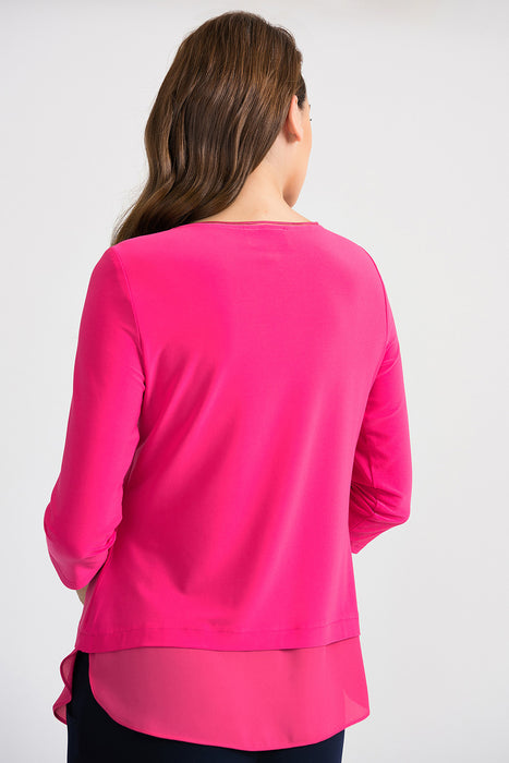 Joseph Ribkoff Layered 3/4 Sleeve Top 201534 NEW