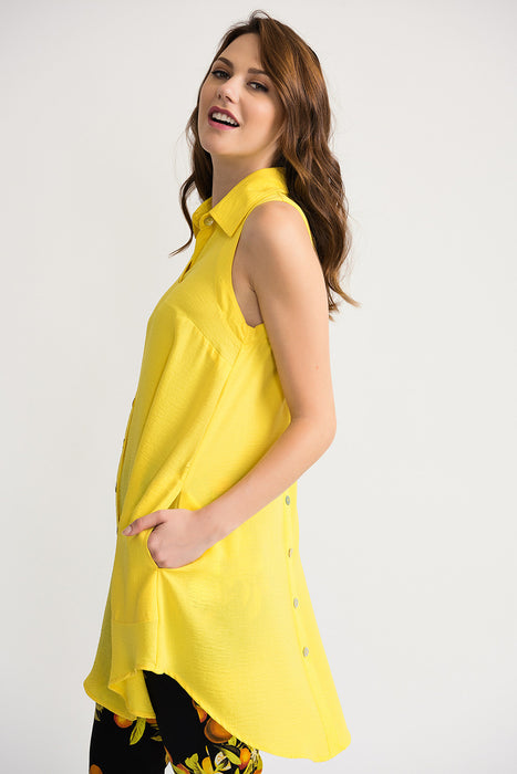 Joseph Ribkoff Sunshine Button-Down Sleeveless Tunic Top 202079 NEW