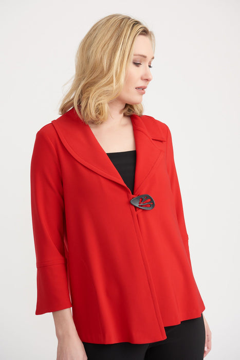 Joseph Ribkoff Style 203348 Lipstick Red 3/4 Sleeve Cover-Up Jacket