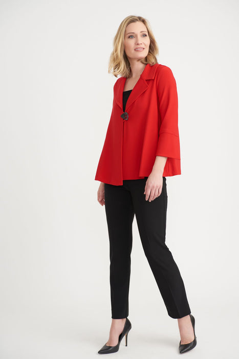 Joseph Ribkoff Lipstick Red 3/4 Sleeve Cover-Up Jacket 203348 NEW