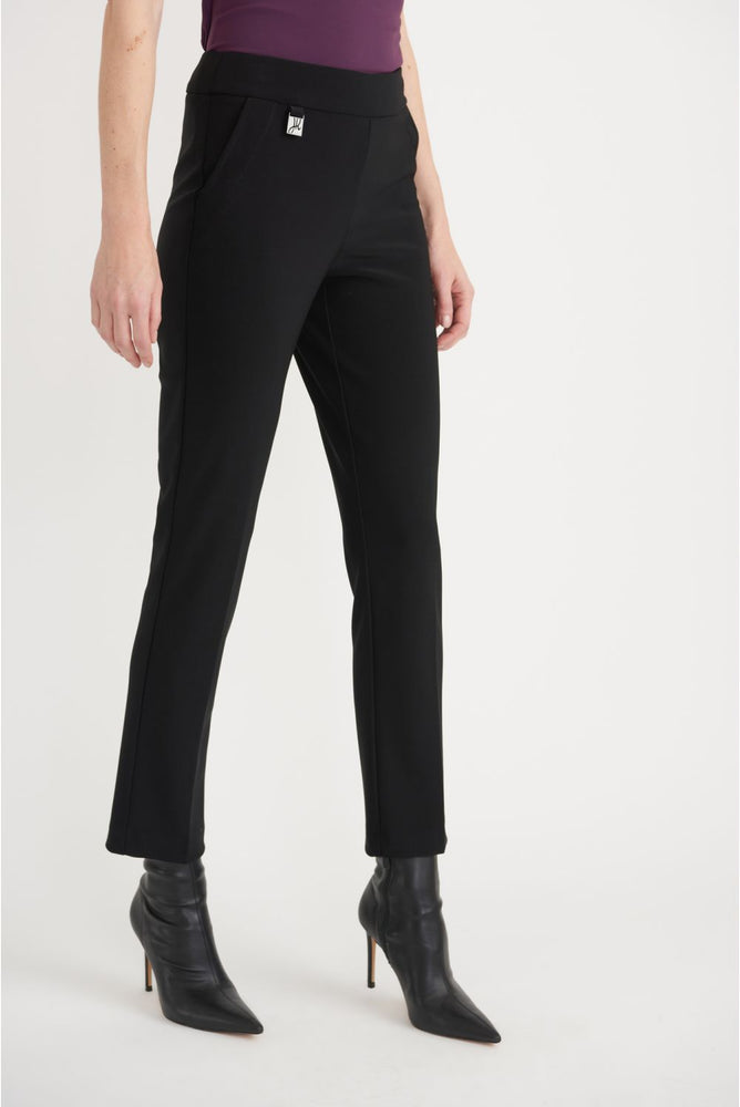 Joseph Ribkoff Style 203704 Black Straight Leg Slip-On Pants