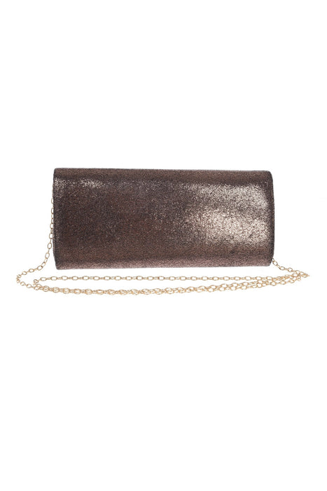 Joseph Ribkoff Bronze Fabric Clutch Bag 201246 NEW