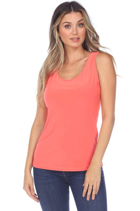 Joseph Ribkoff Style 202386 Cantaloupe Scoop Neck Sleeveless Tank Top