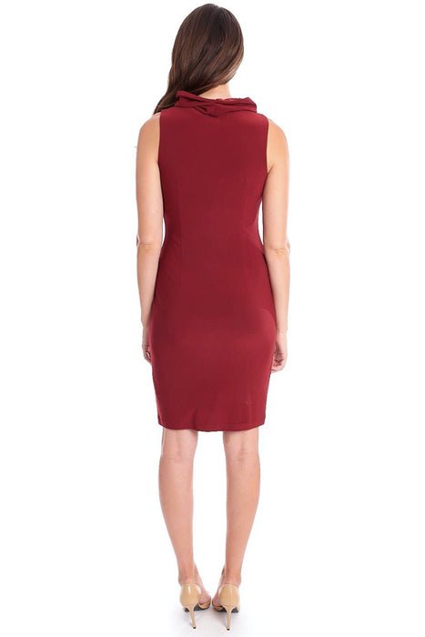 Joseph Ribkoff Cowl Neck Sleeveless Sheath Dress 193012 NEW