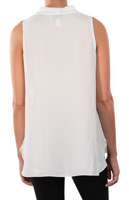 Joseph Ribkoff Vanilla V-Neck Sleeveless Chiffon Camisole Top 171286 NEW