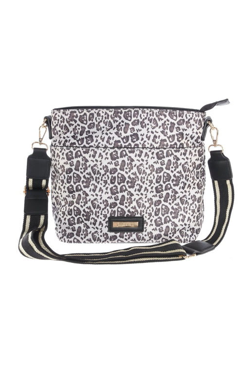 Joseph Ribkoff Style 201380 Beige Brown Black Leopard Print Crossbody Bag