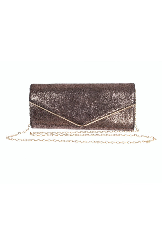 Joseph Ribkoff Style 201246 Bronze Fabric Clutch Bag