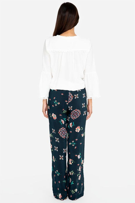 Johnny Was Vega Floral Print Wide Leg Pants Boho Chic C63519B6 NEW