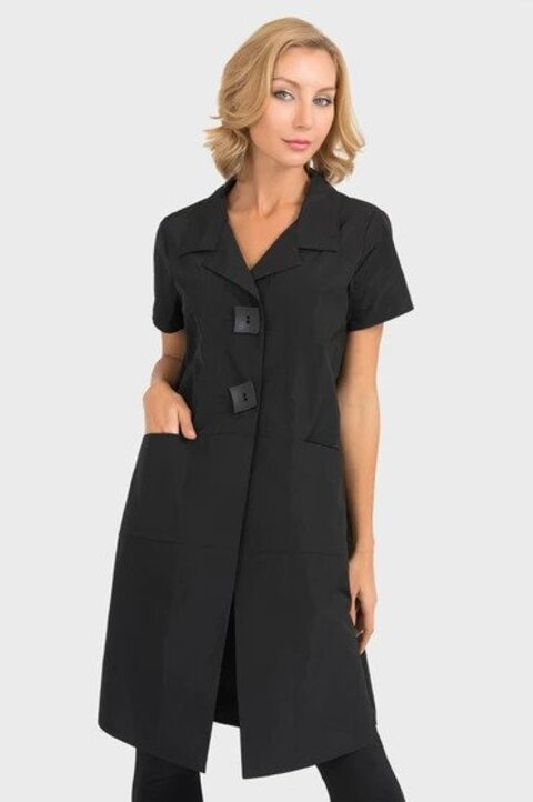 Joseph Ribkoff Style 193429 Black Short Sleeve Long Coat Jacket