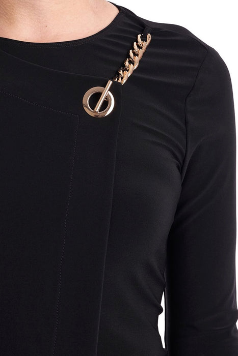 Joseph Ribkoff Grommet Chain Detail Wrap Style Top 193129 NEW
