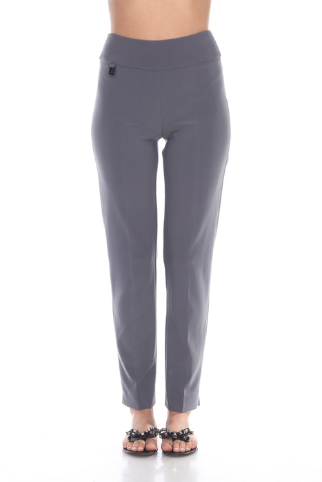 Joseph Ribkoff Style 144092H Smokey Grey Slip-On Tapered Ankle Pants