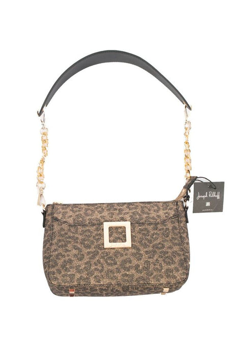 Joseph Ribkoff Leopard Print Chain Link Strap Faux Leather Crossbody Bag 193864 NEW
