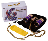 Levenhuk Broadway 325C Amethyst Opera Glasses with a chain