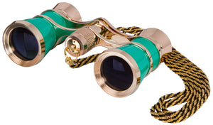 Binoculars with a chain. Magnification: 3x. Objective lens diameter: 25 mm