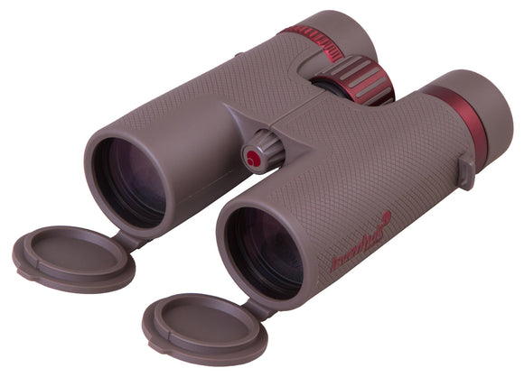 Field roof binoculars with the optics made of extra-low dispersion glass. Five-element eyepieces. ?agnification: 10x. Objective lenses diameter: 42mm