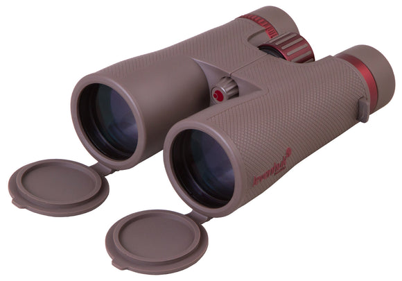Powerful roof binoculars with the optics made of extra-low dispersion glass. Five-element eyepieces. Magnification: 12x. Objective lenses diameter: 50mm
