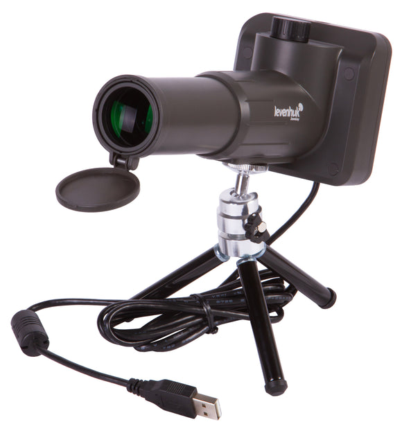Built-in digital camera. Can be connected to a computer, smartphone, or tablet