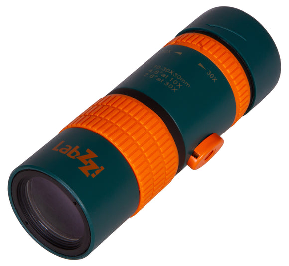 Magnification: 10–30x. Objective lens diameter: 30mm