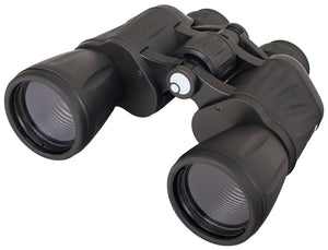 Wide field of view and perfect visibility in any weather conditions. Magnification: 10x. Objective lens diameter: 50 mm.