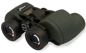 Wide field of view, waterproof shell and compact dimensions. Magnification: 6.5x. Objective lens diameter: 32 mm.