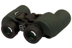 Classic design, wide field of view, all-weather body. Magnification: 8x. Objective lens diameter: 42 mm.