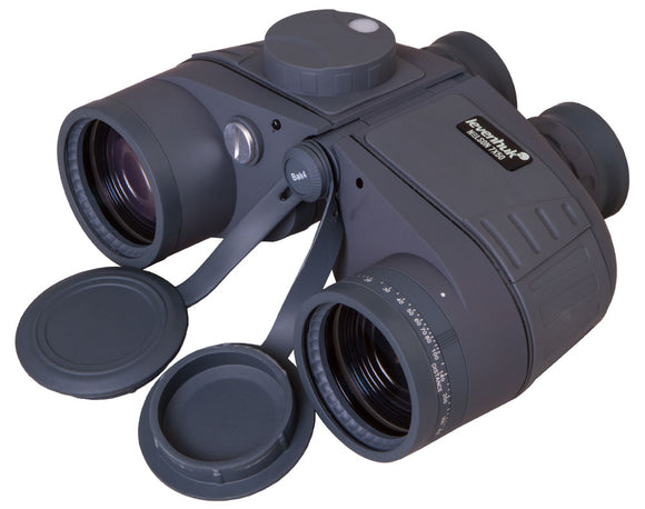 Marine binoculars in a waterproof floating body. Magnification: 7x. Objective lens diameter: 50mm.