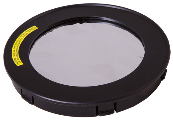 Full aperture solar filter for safe observations of the Sun: 100/134/136 mm